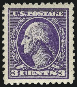 Sale Number 968B, Lot Number 698, 1918-20 Offset Printing Issues (Scott 525-536)3c Purple, Ty. IV (530), 3c Purple, Ty. IV (530)