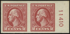 Sale Number 968B, Lot Number 703, 1918-20 Offset Printing Issues (Scott 525-536)2c Carmine, Ty. Va, Imperforate (534), 2c Carmine, Ty. Va, Imperforate (534)