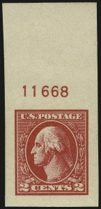 Sale Number 968B, Lot Number 704, 1918-20 Offset Printing Issues (Scott 525-536)2c Carmine, Ty. VI, Imperforate (534A), 2c Carmine, Ty. VI, Imperforate (534A)