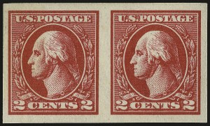 Sale Number 968B, Lot Number 705, 1918-20 Offset Printing Issues (Scott 525-536)2c Carmine, Ty. VI, Imperforate (534A), 2c Carmine, Ty. VI, Imperforate (534A)