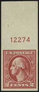 Sale Number 968B, Lot Number 706, 1918-20 Offset Printing Issues (Scott 525-536)2c Carmine, Ty. VII, Imperforate (534B), 2c Carmine, Ty. VII, Imperforate (534B)