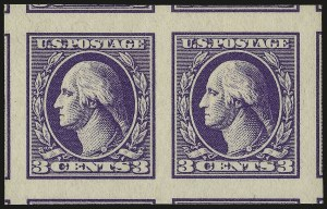 Sale Number 968B, Lot Number 708, 1918-20 Offset Printing Issues (Scott 525-536)3c Violet, Ty. IV, Imperforate (535), 3c Violet, Ty. IV, Imperforate (535)