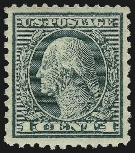 Sale Number 968B, Lot Number 712, 1919-20 Issues (Scott 537-550)1c Green, Rotary Perf 11 x 10 (538), 1c Green, Rotary Perf 11 x 10 (538)
