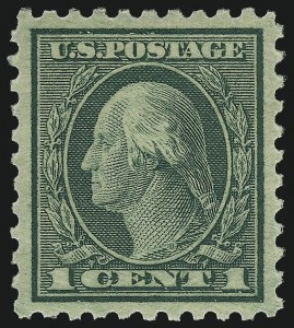 Sale Number 968B, Lot Number 719, 1919-20 Issues (Scott 537-550)1c Green, Perf 10 (543), 1c Green, Perf 10 (543)