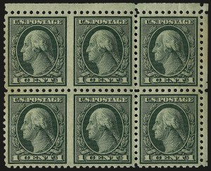 Sale Number 968B, Lot Number 720, 1919-20 Issues (Scott 537-550)1c Green, Perf 10, Horizontal Pair, Imperforate Between (543a), 1c Green, Perf 10, Horizontal Pair, Imperforate Between (543a)