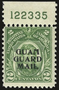Sale Number 969, Lot Number 1105, Guam (Guard Mail)1930, 2c Green, Guard Mail (M1), 1930, 2c Green, Guard Mail (M1)