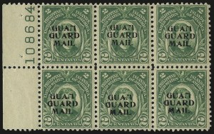Sale Number 969, Lot Number 1107, Guam (Guard Mail)1930, 2c Green, Guard Mail (M1), 1930, 2c Green, Guard Mail (M1)