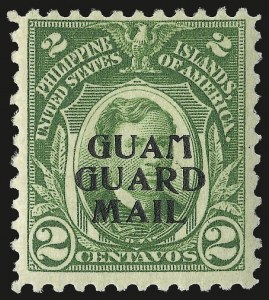 Sale Number 969, Lot Number 1110, Guam (Guard Mail)1930, 2c Green, 4c Carmine, Guard Mail (M1-M2), 1930, 2c Green, 4c Carmine, Guard Mail (M1-M2)