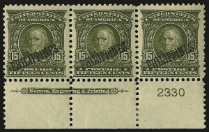 Sale Number 969, Lot Number 1212, Philippines (226-240)1903, 4c-15c Overprints (229-230, 233-235), 1903, 4c-15c Overprints (229-230, 233-235)
