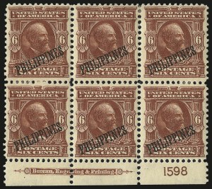 Sale Number 969, Lot Number 1215, Philippines (226-240)1903, 6c Brownish Lake (231), 1903, 6c Brownish Lake (231)