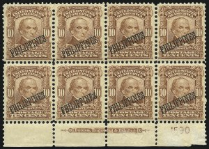 Sale Number 969, Lot Number 1217, Philippines (226-240)1903, 10c Pale Red Brown (233), 1903, 10c Pale Red Brown (233)