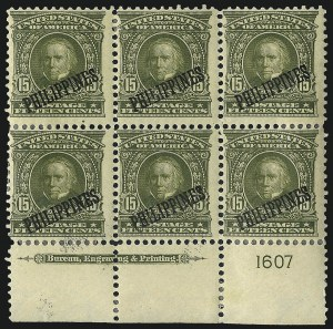 Sale Number 969, Lot Number 1219, Philippines (226-240)1903, 15c Olive Green (235), 1903, 15c Olive Green (235)