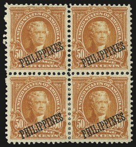 Sale Number 969, Lot Number 1220, Philippines (226-240)1903, 50c Orange (236), 1903, 50c Orange (236)