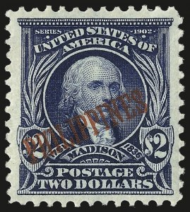 Sale Number 969, Lot Number 1225, Philippines (226-240)1903, $2.00 Dark Blue (238), 1903, $2.00 Dark Blue (238)