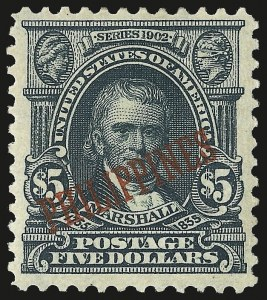Sale Number 969, Lot Number 1229, Philippines (226-240)1903, $5.00 Dark Green (239), 1903, $5.00 Dark Green (239)