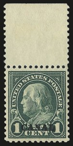 "Sale Number 969, Lot Number 705, Canal Zone (70-81)1924, 1c Deep Green, ""Canal"" Only (71c), 1924, 1c Deep Green, ""Canal"" Only (71c)"