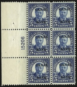 "Sale Number 969, Lot Number 723, Canal Zone (70-81)1924, 5c Dark Blue, Ty. ""A"" Ovpt. (74), 1924, 5c Dark Blue, Ty. ""A"" Ovpt. (74)"