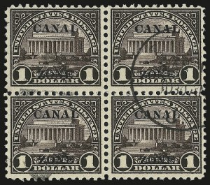 "Sale Number 969, Lot Number 727, Canal Zone (70-81)1924, 5c-$1.00 Ty. ""A"" Ovpts. (74-81), 1924, 5c-$1.00 Ty. ""A"" Ovpts. (74-81)"