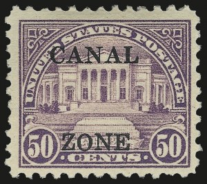 "Sale Number 969, Lot Number 732, Canal Zone (70-81)1924, 3c-$1.00 Ty. ""A"" and Ty. ""B"" Ovpts. (74-81, 85-95), 1924, 3c-$1.00 Ty. ""A"" and Ty. ""B"" Ovpts. (74-81, 85-95)"