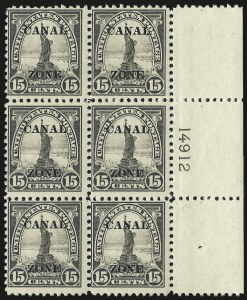 "Sale Number 969, Lot Number 735, Canal Zone (70-81)1924, 15c Gray, Ty. ""A"" Ovpt. (78), 1924, 15c Gray, Ty. ""A"" Ovpt. (78)"