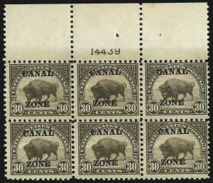 "Sale Number 969, Lot Number 737, Canal Zone (70-81)1924, 30c Olive Brown, Ty. ""A"" Ovpt. (79), 1924, 30c Olive Brown, Ty. ""A"" Ovpt. (79)"