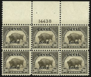 "Sale Number 969, Lot Number 738, Canal Zone (70-81)1924, 30c Olive Brown, Ty. ""A"" Ovpt. (79), 1924, 30c Olive Brown, Ty. ""A"" Ovpt. (79)"
