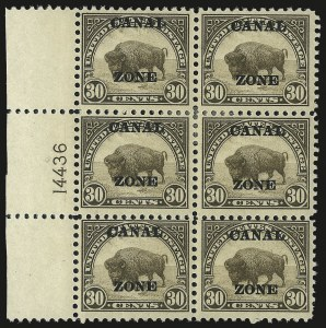 "Sale Number 969, Lot Number 740, Canal Zone (70-81)1924, 30c Olive Brown, Ty. ""A"" Ovpt. (79), 1924, 30c Olive Brown, Ty. ""A"" Ovpt. (79)"