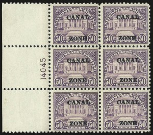 "Sale Number 969, Lot Number 741, Canal Zone (70-81)1924, 50c Lilac, Ty. ""A"" Ovpt. (80), 1924, 50c Lilac, Ty. ""A"" Ovpt. (80)"