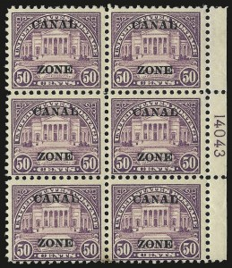 "Sale Number 969, Lot Number 742, Canal Zone (70-81)1924, 50c Lilac, Ty. ""A"" Ovpt. (80), 1924, 50c Lilac, Ty. ""A"" Ovpt. (80)"