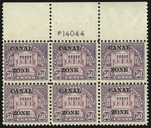 "Sale Number 969, Lot Number 743, Canal Zone (70-81)1924, 50c Lilac, Ty. ""A"" Ovpt. (80), 1924, 50c Lilac, Ty. ""A"" Ovpt. (80)"