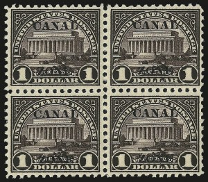 "Sale Number 969, Lot Number 746, Canal Zone (70-81)1924, $1.00 Violet Brown, Ty. ""A"" Ovpt. (81), 1924, $1.00 Violet Brown, Ty. ""A"" Ovpt. (81)"