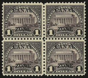 "Sale Number 969, Lot Number 793, Canal Zone (84-99)1925, $1.00 Violet Brown, Ty. ""B"" Ovpt. (95), 1925, $1.00 Violet Brown, Ty. ""B"" Ovpt. (95)"