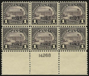 "Sale Number 969, Lot Number 794, Canal Zone (84-99)1925, $1.00 Violet Brown, Ty. ""B"" Ovpt. (95), 1925, $1.00 Violet Brown, Ty. ""B"" Ovpt. (95)"