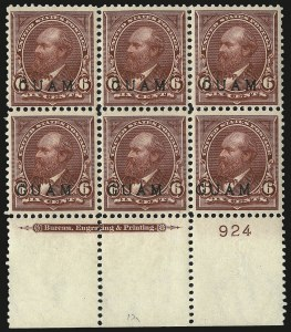 Sale Number 969, Lot Number 983, Guam (4-7)1899, 6c Lake (6), 1899, 6c Lake (6)