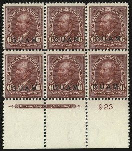 Sale Number 969, Lot Number 986, Guam (4-7)1899, 6c Lake (6), 1899, 6c Lake (6)