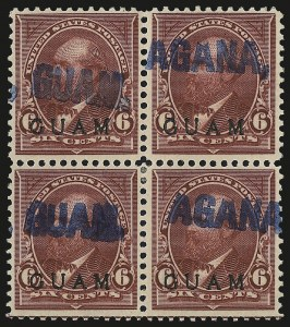 Sale Number 969, Lot Number 987, Guam (4-7)1899, 6c Lake (6), 1899, 6c Lake (6)