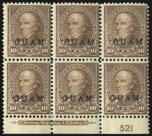 Sale Number 969, Lot Number 998, Guam (8-12)1899, 10c Brown, Ty. I (8), 1899, 10c Brown, Ty. I (8)
