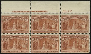 Sale Number 973, Lot Number 157, Columbian Issue$1.00 Columbian (241), $1.00 Columbian (241)