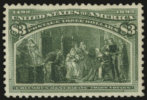 Sale Number 973, Lot Number 161, Columbian Issue$3.00 Olive Green, Columbian (243a), $3.00 Olive Green, Columbian (243a)