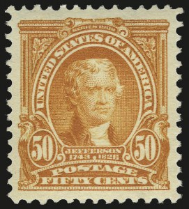 Sale Number 973, Lot Number 184, 1902-08 Issues50c Orange (310), 50c Orange (310)