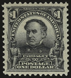 Sale Number 973, Lot Number 185, 1902-08 Issues$1.00 Black (311), $1.00 Black (311)