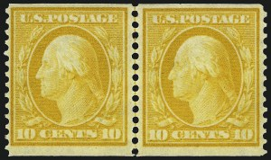 Sale Number 973, Lot Number 189, 1902-08 Issues10c Yellow, Coil (356), 10c Yellow, Coil (356)