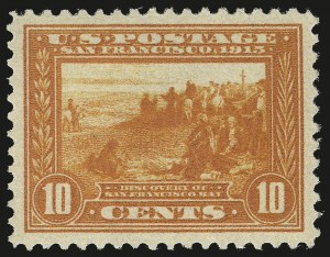Sale Number 973, Lot Number 196, Later Issues (Scott 389 thru 480)10c Orange, Panama-Pacific (400A), 10c Orange, Panama-Pacific (400A)