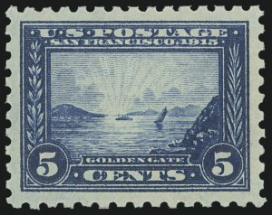 Sale Number 973, Lot Number 197, Later Issues (Scott 389 thru 480)5c Panama-Pacific, Perf 10 (403), 5c Panama-Pacific, Perf 10 (403)