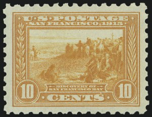 Sale Number 973, Lot Number 198, Later Issues (Scott 389 thru 480)10c Panama-Pacific, Perf 10 (404), 10c Panama-Pacific, Perf 10 (404)