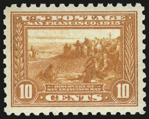 Sale Number 973, Lot Number 199, Later Issues (Scott 389 thru 480)10c Panama-Pacific, Perf 10 (404), 10c Panama-Pacific, Perf 10 (404)