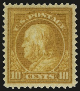 Sale Number 973, Lot Number 200, Later Issues (Scott 389 thru 480)10c Brown Yellow (416a), 10c Brown Yellow (416a)