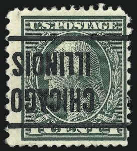 Sale Number 973, Lot Number 203, Later Issues (Scott 389 thru 480)1c Green, Perf 12 x 10 (423A; formerly 424a), 1c Green, Perf 12 x 10 (423A; formerly 424a)