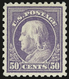 Sale Number 973, Lot Number 205, Later Issues (Scott 389 thru 480)50c Violet (440), 50c Violet (440)