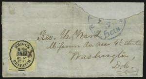 Sale Number 973, Lot Number 283, Local PostsBrigg's Despatch, Philadelphia Pa., (2c) Black on Yellow (25L1), Brigg's Despatch, Philadelphia Pa., (2c) Black on Yellow (25L1)